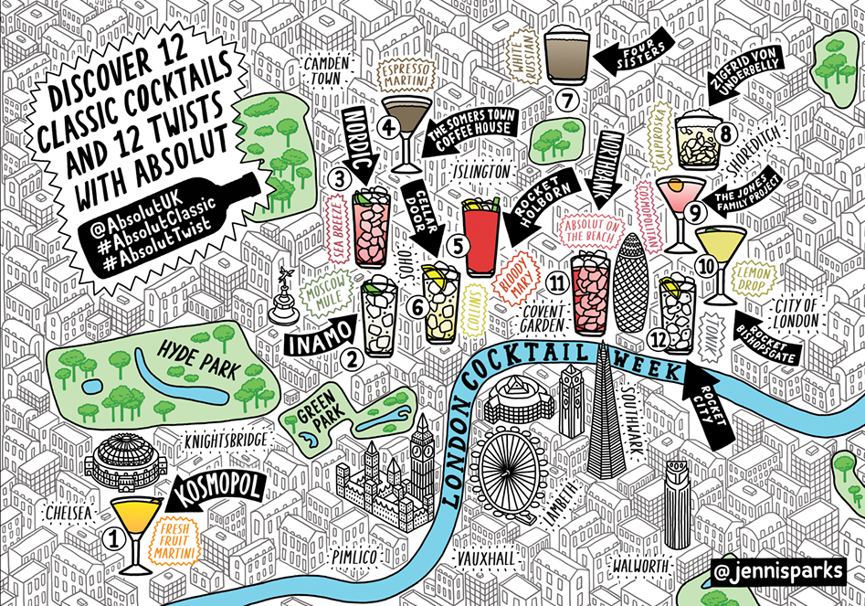 london cocktail map